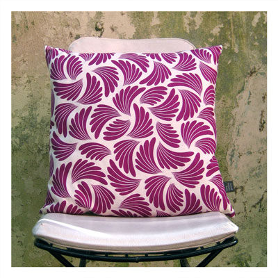 AERIAL ANTICS CUSHION IN BERRY